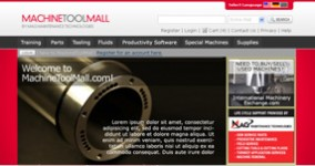 Machine Tool Mall Logo &amp; User Interface